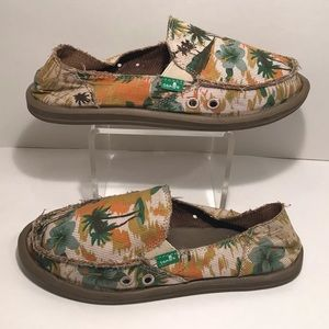NEW Sanuk Donna Palm🏝Beach Slip On Loafers 🆕Sz 6